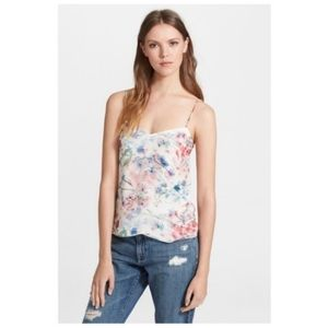 Theory Vaneese Floral Silk Camisole Tank Top